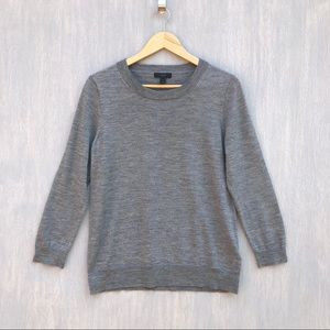 J. Crew Tippi sweater Merino wool grey L